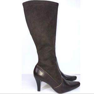 Franco Sarto knee high stiletto suede boots